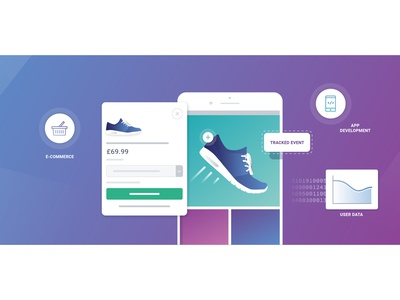 eCommerce App Service product ecommerce shop illustration simple ui users sports app ecommerce