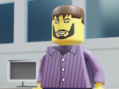 Lego minifig illustration blender 3d minifig lego