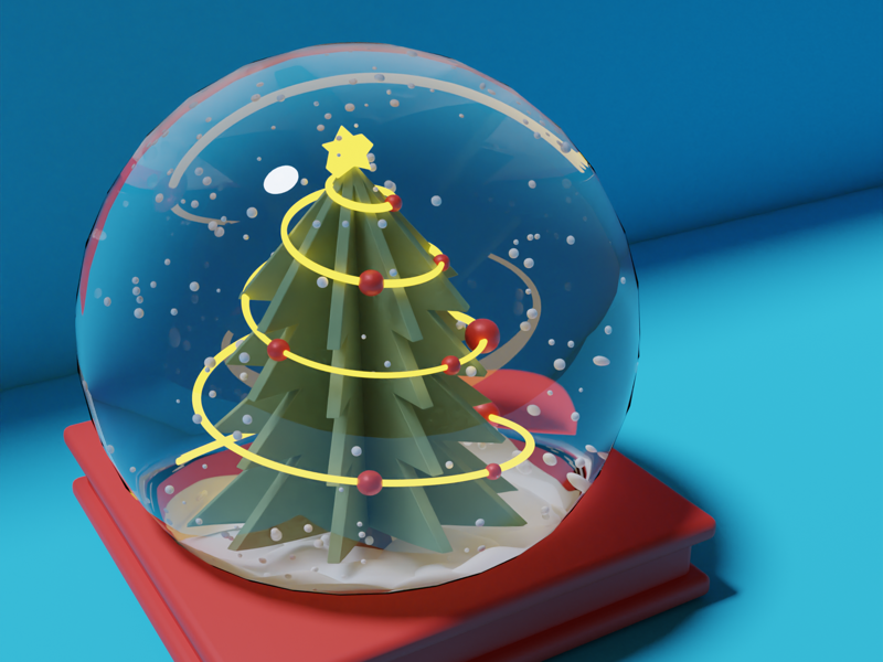 Happy Holidays holidays fun blender 3d illustration