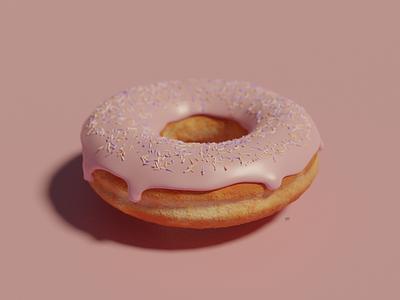 D'oh-nut texturing illustration 3d blender3d blender donut