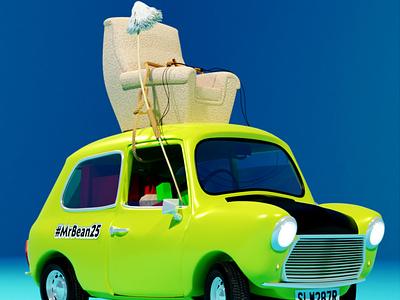 Bean's Mini lowpolyart lowpoly3d blender3d blender 3d art 3d nostalgia vehicle car