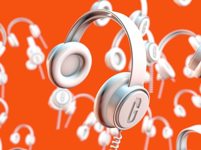 Jammin' test cloner coil render headphones modeling c4d