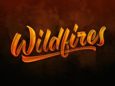 PNW Wildfires ipadlettering handtype ipadpro applepencil typedesign script procreate handlettering type lettering