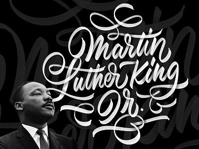MLK 2021 handtype design ipadlettering procreate type script handlettering lettering civilrights martinlutherking mlk