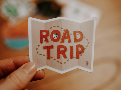 Road Trip Stickers christian church seriesbranding branding texture handtype stickerpack rise matte roadmap route prayerroadtrip mission gospel prayer roadtrip stickers