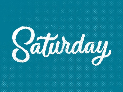 Happy Weekend overtime weekend halftone roughen type handlettering lettering