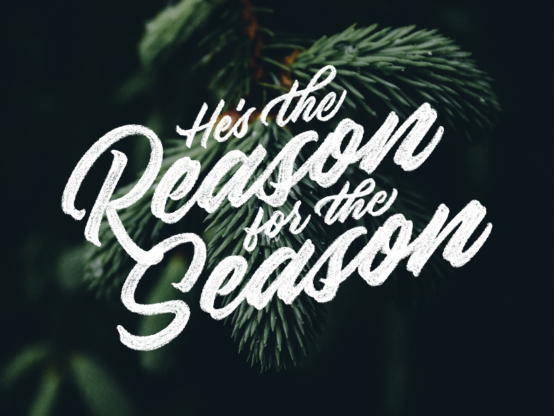 The Reason for the Season holiday christmas procreate typedesign type handlettering applepencil ipadpro ipad script lettering