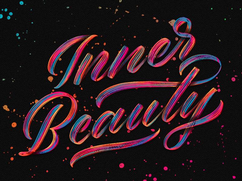 Inner Beauty procreate typedesign type handlettering applepencil ipadpro ipad brushcript lettering