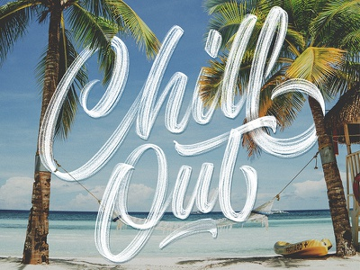 Chill Out – it's the weekend! handtype design ipadlettering typedesign applepencil procreate script handlettering type lettering
