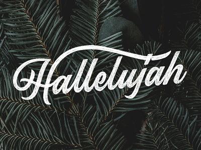 Hallelujah design typography ipadlettering handtype ipadpro typedesign procreate applepencil type script handlettering lettering
