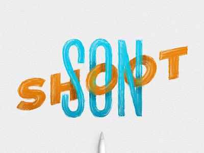 Shoot Son design monoweight ipadlettering handtype ipadpro typedesign applepencil procreate type handlettering lettering