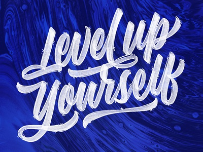 Level Up Yourself handtype typography everythingweneed kanye levelup goodtype logotype lettering