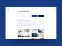 Customize profile