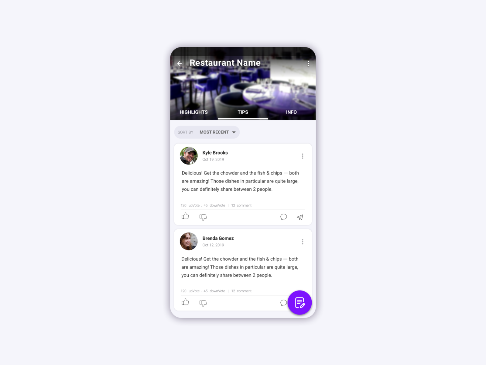 Reviewer App By Mahdieh Mozafarian On Dribbble