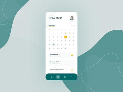 Calendar & Tasks App ui clean design figma calendar task task list task manager task app modren