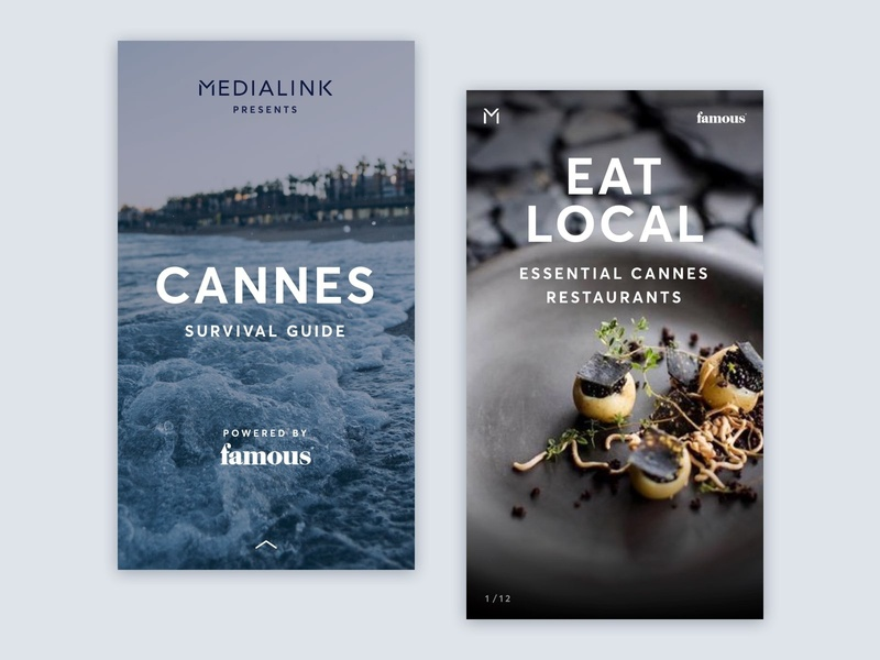 Cannes Cover   Local typography cuisine guide local beach cannes travel restaurant france mobile