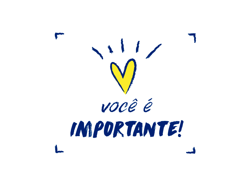 Você é Importante: Voce é Importante! By Larissa Lopes On Dribbble