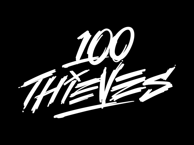 100 Thieves branding hand lettering custom lettering sweyda competitive  gamming e-sports callofduty nadeshot 100thieves