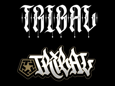 Tribal Gear custom lettering type custom lettering lettering jared mirabile tribal streetwear tribal clique sweyda tribal gear