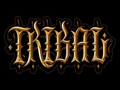 Tribal Gear custom lettering hand lettering custom lettering type jared mirabile tribal streetwear tribal clique sweyda tribal gear