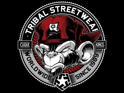 Tribal Gear design type custom lettering lettering jared mirabile tribal streetwear tribal clique sweyda tribal gear
