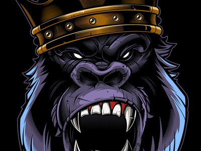 Gorilla Vector Illustration / Merch development illustration kong king vector gorilla
