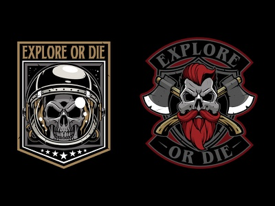 Patches mirabile illustration-sweyda-jared patch-skull patch-lumberjack skull game- patch-patch