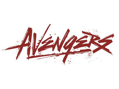 Avengers Lettering Hand Lettering Custom Lettering Sweyda Marvel typography custom type marvel sweyda custom lettering hand lettering avengers lettering