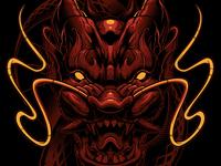 Rash Guard Dragon Illustration
