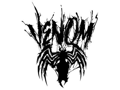 Marvel Venom sweyda venom illustration custom lettering hand lettering venom font venom lettering marvel venom movie marvel venom venom
