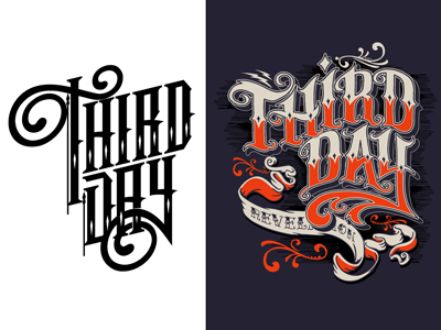 Third Day type typography lettering custom lettering third day vector design graphics graphic design