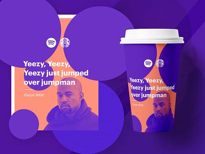 Spotify x Starbucks gradient bright simple design jckly cup starbucks spotify branding coffee