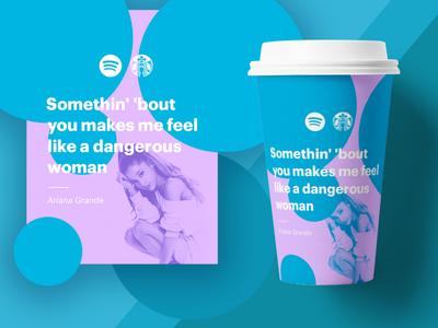 Spotify x Starbucks 03 jack lalley pop bright clean jckly coffee branding spotify simpel