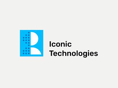 Logo Iconic Technologies dragos alexandru dragos design blue tech technology iconic logo icon iconic logodesign logo design logo