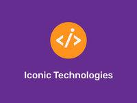 Logo Iconic Technologies 2 programming technical tech tech logo technology iconic iconography icon design logos typography vector branding design flat simple icon dragos logodesign logo design logo