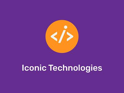 Logo Iconic Technologies 2 programming technical tech tech logo technology iconic iconography icon design logos typography vector branding design flat simple icon dragos logodesign logo design logo