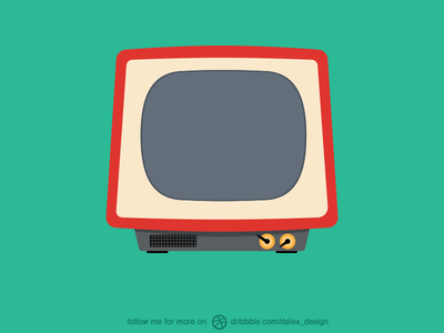 [Free PSd] Tv Illustration
