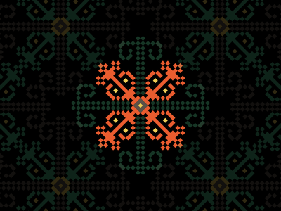 Romanian Embroidery Pattern pattern traditional symbol romania maramures folklore embroidery