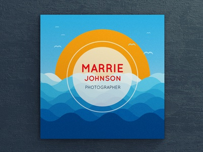 PhotoMarina - Square Business Card illustration marina print template square business card business card