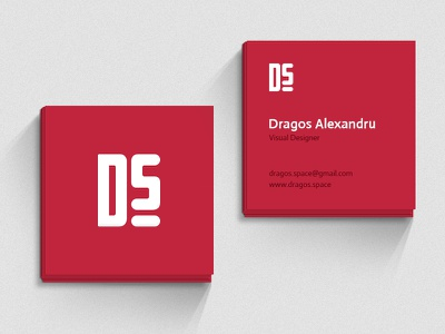 Free Mockup - Business Card  template download free dragos alexandru dragos.space square business card business card mockup