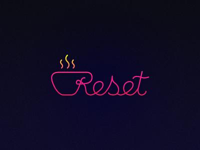 Logo Reset  dragos.space dragos logotype logo purple line refresh reset coffee shop