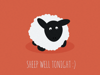 Sheep Well Tonight - Free Poster