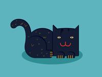 Flat Blue Cat