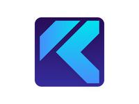 K - Blue Logo