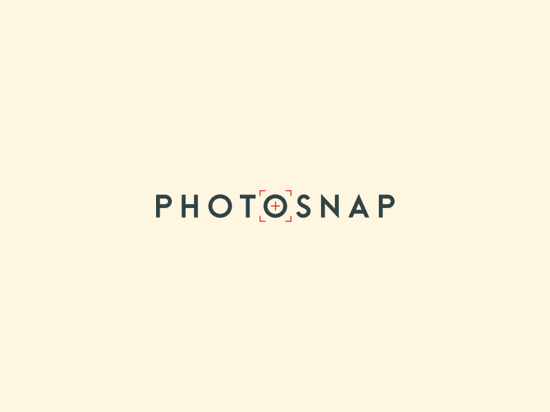 PhotoSnap Logo cross hair sketoneto dalex dragos logotype typo snapshot snap logo photosnap photography photo logo