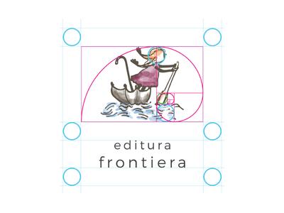 Frontiera Publishing House Logo sketoneto dragos dalex river illustration logo publishing house umbrela kid child frontiera