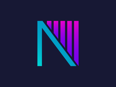 Logo N - Lines and Gradients