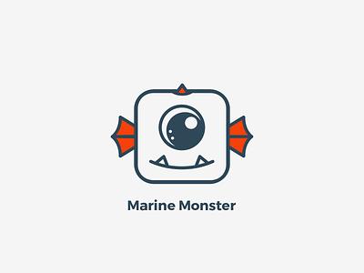 Logo - Marine Monster dragos logo character mascot character mascot design mascot logo logo design logo monster marine monster monster marine