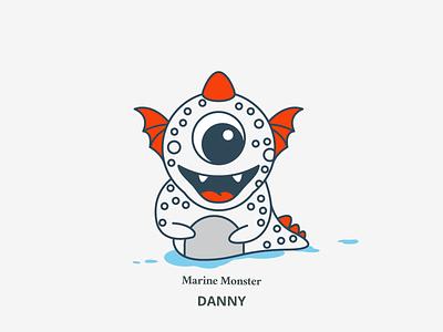 Danny - Marine Monster dragos marine monster design marine monster character illustration
