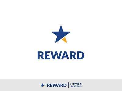 Logo Reward WIP V2 yellow blue reward star dragos alexandru logo